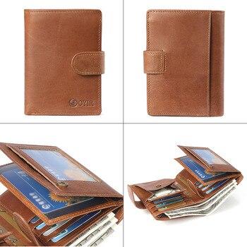 e8b9d402ccc5 Geniune кожаные мужские кошельки Повседневный Топ качественные бумажники  клатч Карманный мужской держатель для карт монета карман