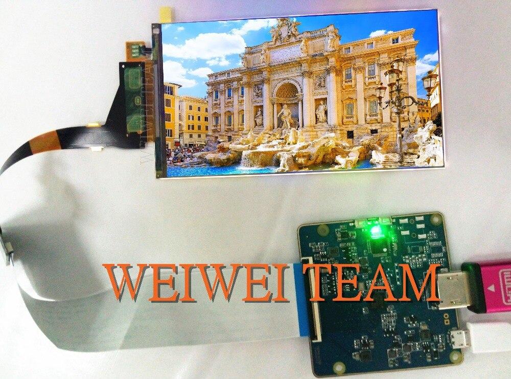 5.5 pouces 2560*1440 2 K LCD Écran LS055R1SX04 HDMI à MIPI pilote carte contrôleur pour le remplacement pour Wanhao duplicateur 7