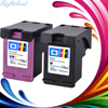 Hisaint Hot Toner Cartridge For HP 62XL Replacement Compatible Ink Cartridges 2 Pack 1 Black 1Tri