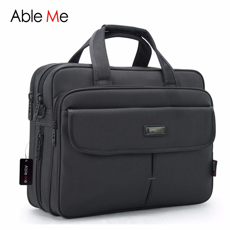 New Leisure Style Men Shoulder Handbags 15 inches Laptop Notebook Document Protable Multi pocket Tote Men