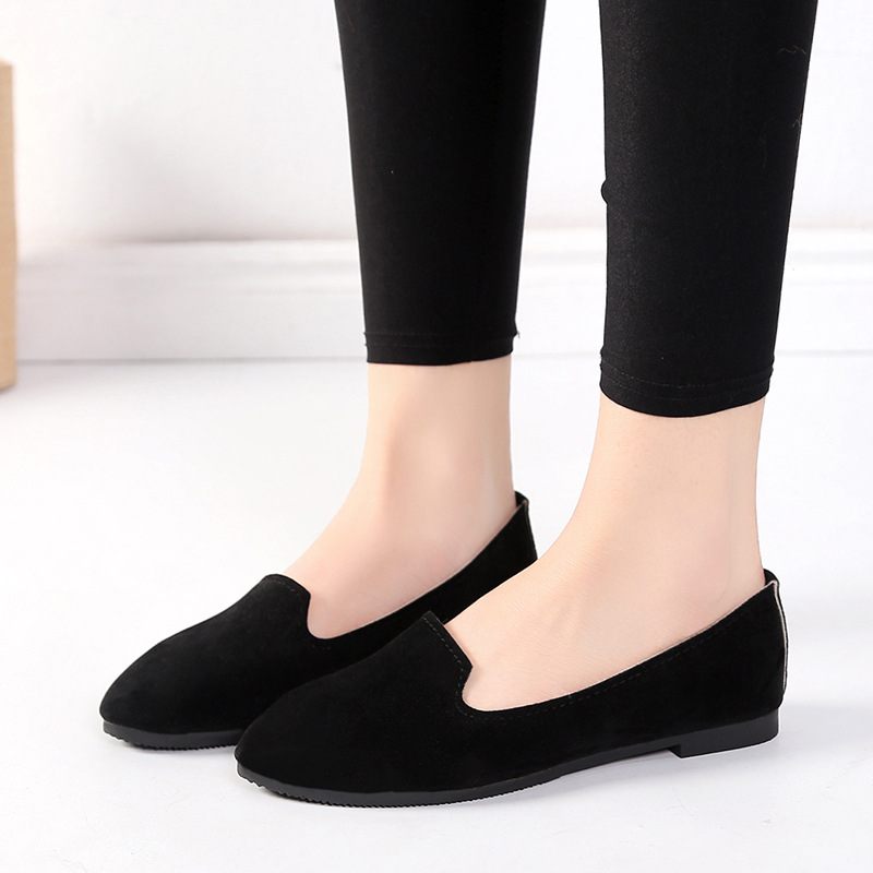 Spring Summer Women Flat Shoes Woman Ballet Flats Candy Color Ladies Shoes Large Size Autumn Casual Shoes Women Loafers WSH2216