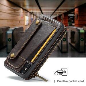 Image 5 - Detachable Leather Case For iPhone 11 Pro Max X XR XS Max Zipper Flip Phone Case For iPhone 8 7 Plus 6 6S SE 2020 Wallet Cases