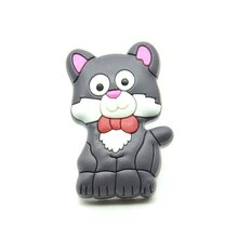 10pcs Lovely Cat Kids Safe Rubber Pull Handles Cabinet Door Cupboard Drawer Knobs Soft Cartoon Knob For Childrens Furniture