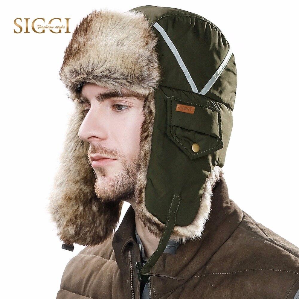 FANCET Winter Unisex Bomber Hats For Men Women 100% Rabbit Fur Faux Fur Soft Warm Hunting Russia Hats Windproof Ushanka 89135