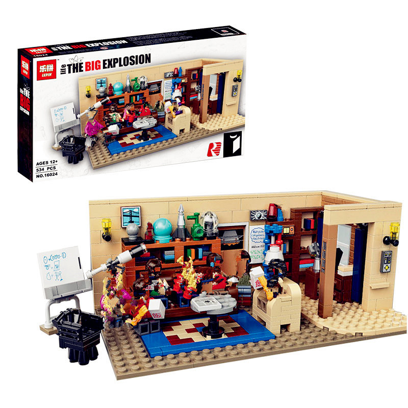 IN STOCK Lepin 16024 534Pcs IDEAS Series The Big Bang Set Educational Building Blocks Bricks Compatible Children Toys Gift 21302 in stock lepin 02012 774pcs city series deepwater exploration vessel children educational building blocks bricks toys model gift