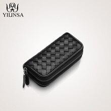 Luxus Handtaschen Frauen Mann Taschen Designer Schaffell Woven Schlüssel Kette Geldbörse Hohe Qualität Kapazität Key Geldbörsen Kredit ID