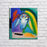 Animal Goat Most Famous Living Room Abstract Art Wall Painting For Home Decor Ideas Hand Painted