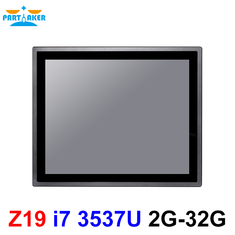 17 Inch IP65 Industrial Touch Panel PC Intel Core i7 3537U All in One Computer with Windows and Linux 10 Points Capacitive TS