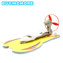 DIY Aerodynamic Speedboat Model Kits Electric Yacht Assembly Model Toy Physics Experiment Science Education Toys for Kids Gifts цена