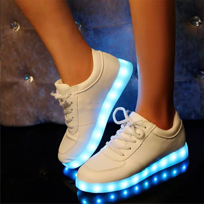 Led Shoes Men Casual Shoes 11 Colors Led Luminous Shoes Lighted Up USB Rechargeable Light Shoes For Adults 25 40 size usb charging basket led children shoes with light up kids casual boys