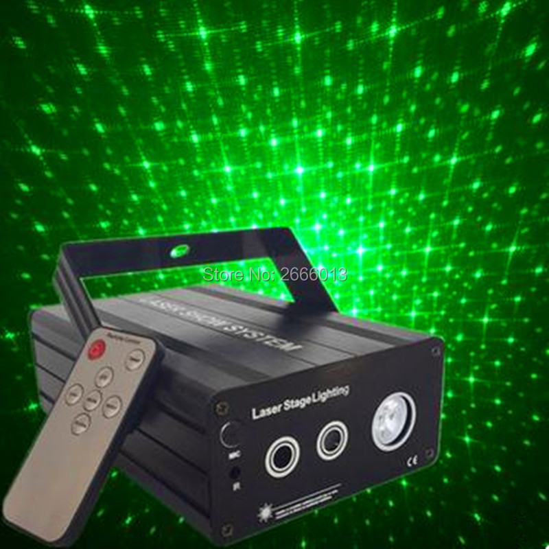 IR Control 3lens 48 gobos RG Laser Light Blue LED mix effect Stage Light Colorful Galaxy Meteor Lights KTV bar dj Disco Lighting rg mini 3 lens 24 patterns led laser projector stage lighting effect 3w blue for dj disco party club laser