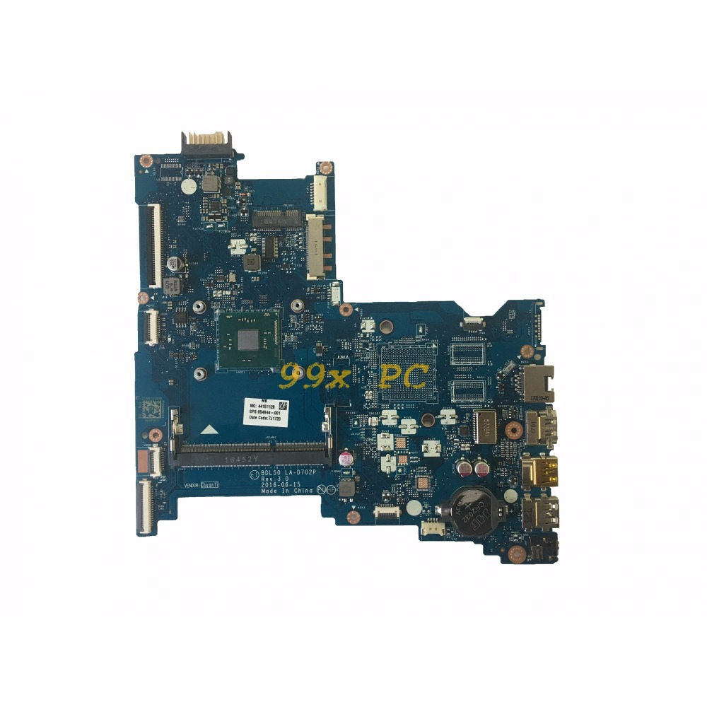 LAOKE FOR HP 15-AY 250 G5 Laptop Motherboard W/ N3060 CPU 854944-001 854944-601 BDL50 LA-D702P DDR3 Test ok