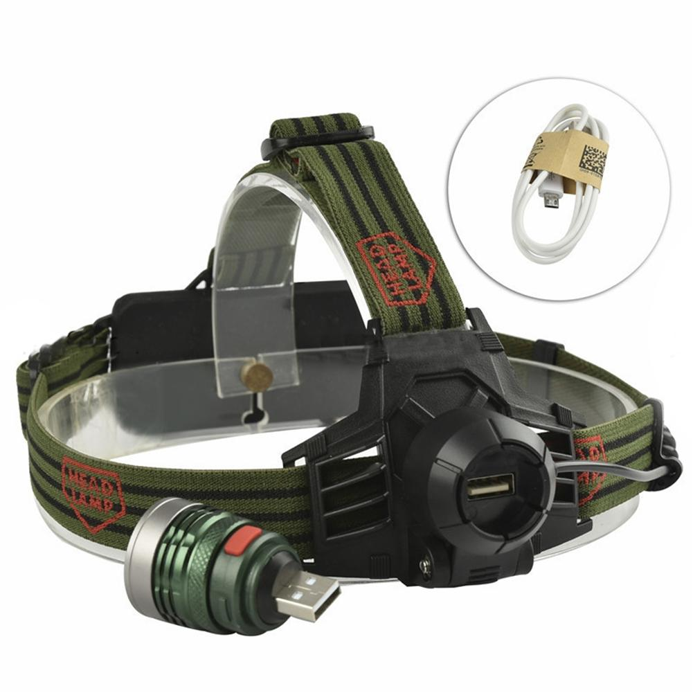 Litake Exquisite Strong Light Long Shot Headlamp For Outdoor Activity Hunting Fishing Detachable Lamp Cap USB Portable Torch