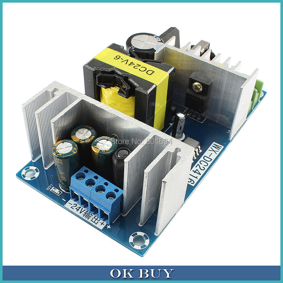 AC 100-240V 110V 220V To DC 24V 150W SMPS Board 6-9A High-Power Industrial Power Template DC Power Supply Module