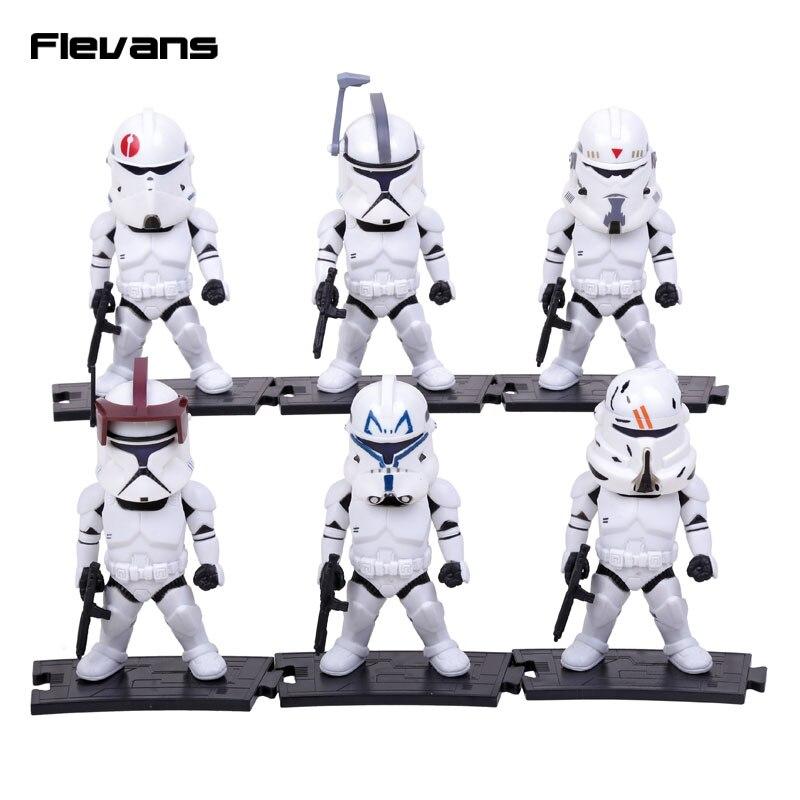 Star Wars Light & Action Function Stormtrooper 6pcs/set PVC Action Figures Collectible Model Toys 9.5cm стоимость