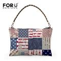 High Quality Women Chain Handbag Designer UK USA Flag Print Shoulder Bags Brand Casual Tote Female Women Crossbody Bags