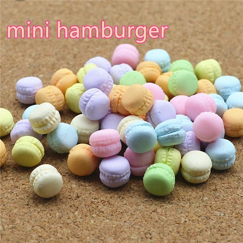 Macarons Sweet Candy 50PCS 10mm Polymer Clay Flatback Cabochon Miniature Food Art Supply Decoden Charm DIY Craft
