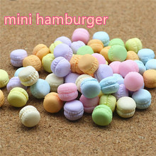 Macarons sweet candy 50PCS 10mm polymer clay Flatback Cabochon Miniature Food Art Supply Decoden Charm Craft DIY free shipping
