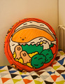 Fanshion Cotton  Printing Salmon pattern Bedding Round Shape Pillow Cushion Baby Headrest Pillow 1pcs