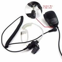 talkie walkie מיקרופון רמקול תקשיב 3.5mm Retevis Plug אודיו / כונס רק צינור האוויר Surveillance באפרכסת מיקרופון רמקול Talkie Walkie מוטורולה C9049A (3)