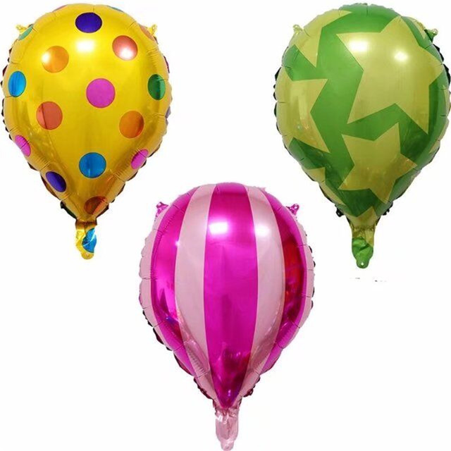1pcs Drop Shaped Helium Balloon Dot Star Stripe Foil Balloon Kids
