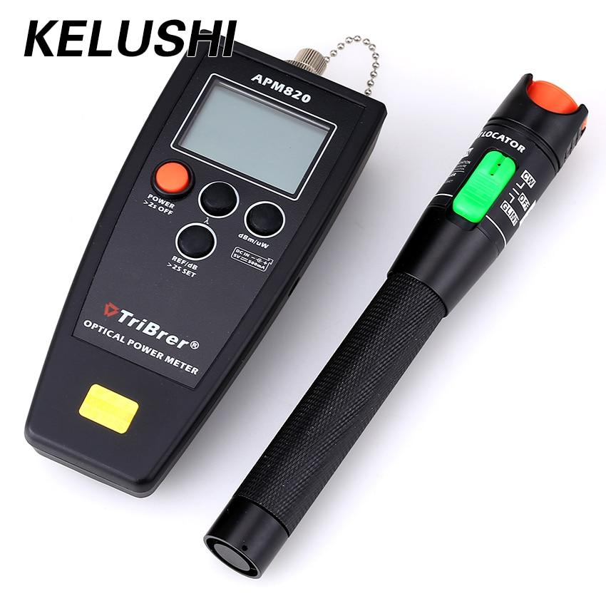 KELUSHI Free Shipping FTTH 2 in 1 fiber tool kit APM 820 fiber optical power meter