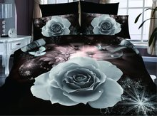 3D Bedding Sets Cotton 4Pcs Duvet Cover Flat Sheet Pillowcase