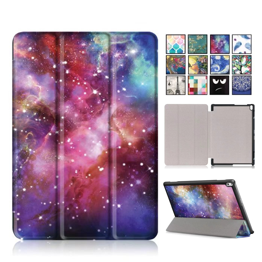 Tab4 10 plus PU Leather Case Cover Colorful Print Stand Skin for Lenovo TAB 4 10 Plus TB-X704N TB-X704F 10'' Smart Tablet Fundas for lenovo tab 4 10 0 plus 2017 version case folio pu leather smart stand case cover for lenovo tab 4 10 protective skin case