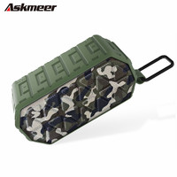 Askmeer X8 Mini Outdoor Waterproof Wireless Bluetooth Speaker Shockproof Loudspeaker Deep Bass Subwoofer for Bike Travel Cycing