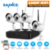 SANNCE Full HD 1080P 4CH Wireless NVR CCTV System IP Camera 2MP WI FI Waterproof IR