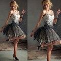 Strapless sexy de cristal vestidos