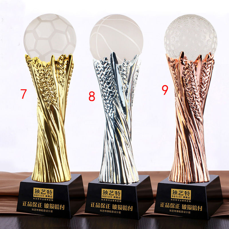 Free shipping, High quality 29CM Metal trophy Football Champion Award high quality 30cm metal trophy soccer basketball volleyball trophy sports trophy souvenirs free shipping