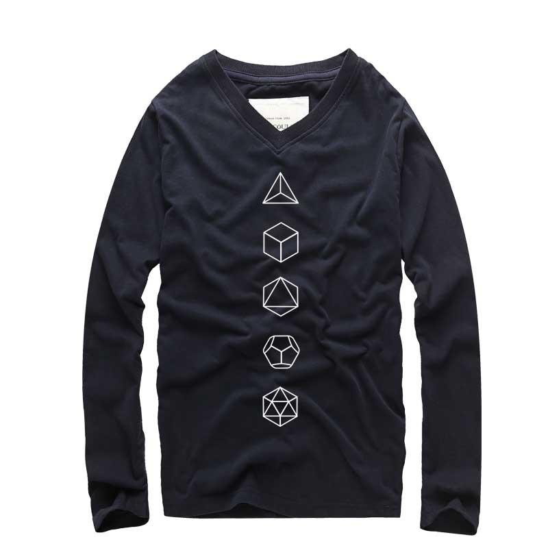 2018 Imbracaminte de imbracaminte nou Geometry Printed T-shirt casual - Imbracaminte barbati