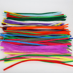 Image 3 - 100pcs 30cm Chenille Stems Twist Wire Stems Pipe Cleaners Children Kids Handmade Education Decorative Fake Flowers & Wreaths