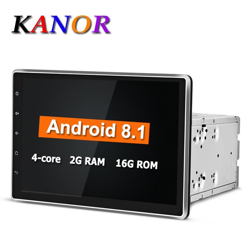 KANOR Android 8.1 1024 * 600 Quad Core 10.1 inch Dubbele 2Din Auto - Auto-elektronica