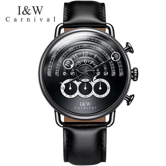 Switzerland relogio masculino Carnival Luxury Brand Men Watches Multi-function Sport Quartz Watch Men Waterproof clock C8818-5