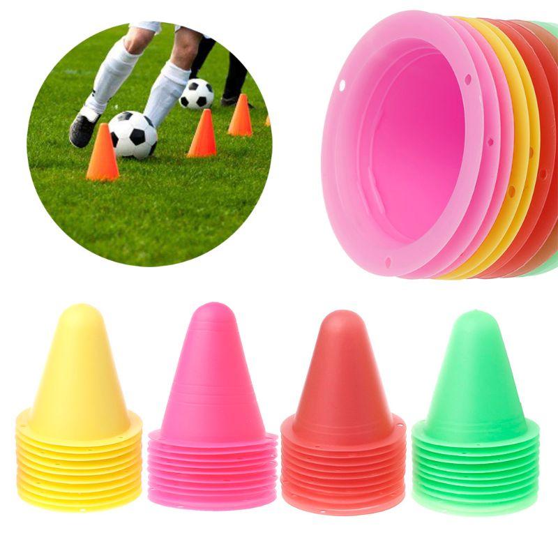 10 Pcs/lot Skate Marker Cones Roller Football Soccer Training Equipment Marking Cup