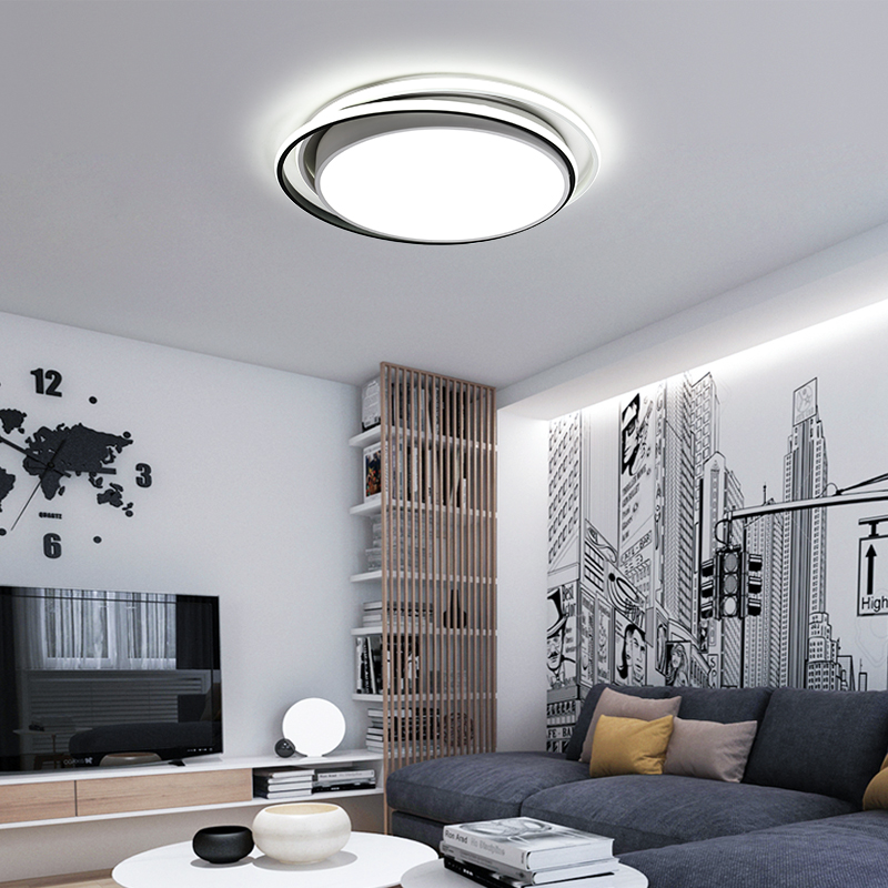 LED Modern Ceiling Light Iron Indoor Lamp Fixture for Living Room Bedroom Minimalist Creative Round Simple Home Decoration Lamps цена