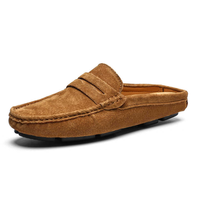 Man Genuine Leather Loafers Summer Male