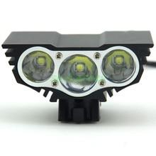Securitying 3 x xm-l u2 5000 lúmenes luz de la bici de la luz delantera de la bicicleta de luz de flash con batería recargable y cargador