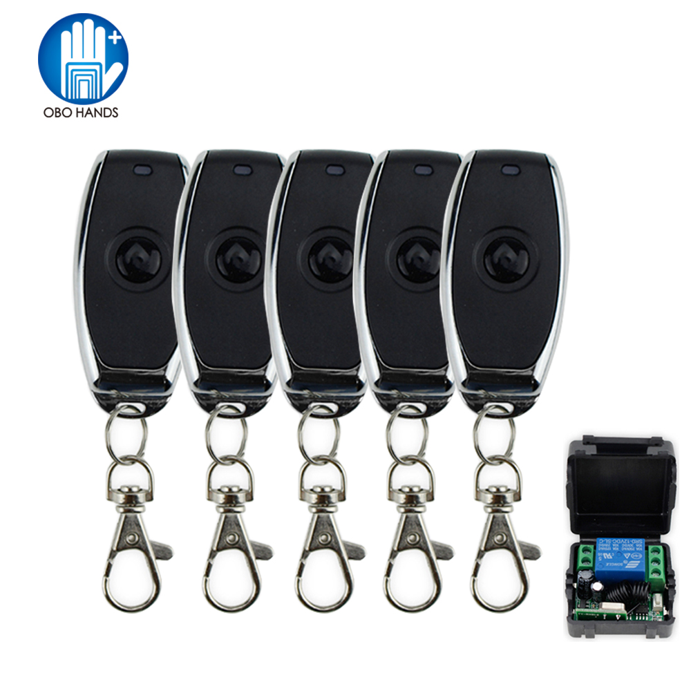 DC12V 1CH 50 Meters Wireless Remote Control System Metal Key Switch 315/433MHz For Access Control Lock System Single Door