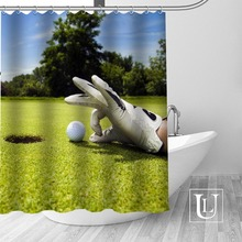 Custom Golf Ball Bath Curtain Fabric Modern Shower Curtain Bathroom  Beautiful Curtains Bath Decor(China