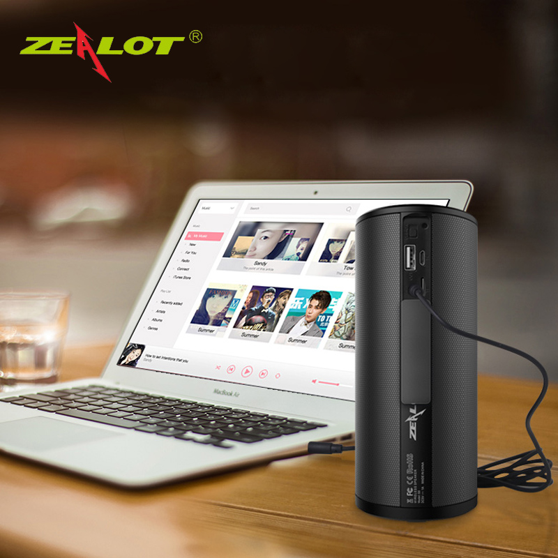 Original ZEALOT S8 HiFi Stereo Wireless Bluetooth Speaker Touch Control 3D Surround Sound Sport Subwoofer Support TF Card AUX