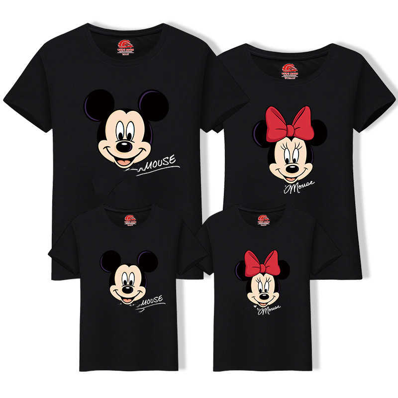6b6c0c60e Matching Family Outfits Best Friend Tshirt Cartoon Mickey Printed Casual T  Shirt Family Look Mother Son