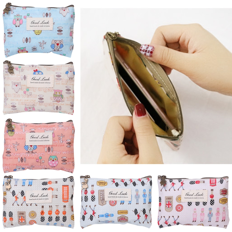 THINKTHENDO Cute Women Girls Change Coin Purse Mini Zipper Wallet Key Holder Pouch New Brand Cute Small Casual Canvas new brand mini cute coin purses cheap casual pu leather purse for coins children wallet girls small pouch women bags cb0033