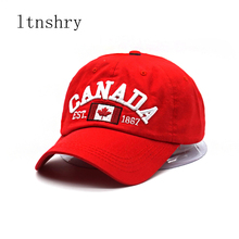 Canada letter embroidery baseball caps cotton gorra snapback curved dad hat leisure outdoor women men sports cap Gorras Bone