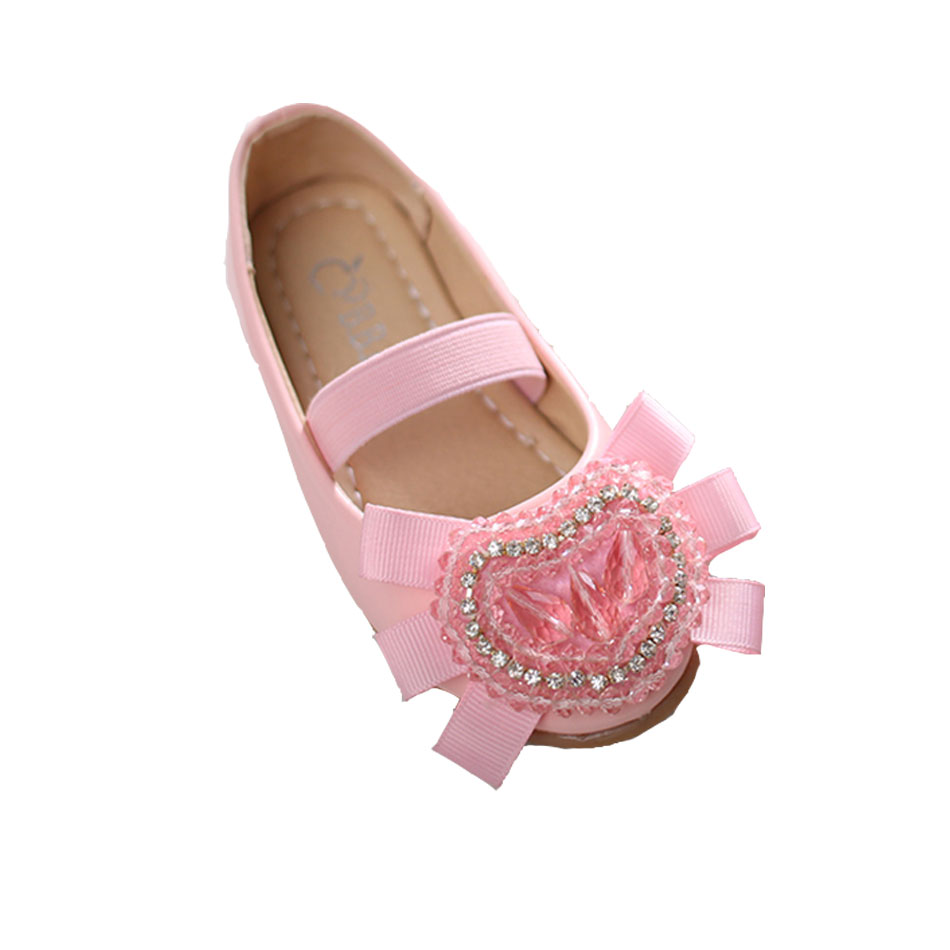 MSMAX Girls Dress Shoes Children Leather Silk Heart Bead Pink White Party  Shoes Kids Cow Muscle School Ladies Wedding Shoes -in Leather Shoes from  Mother ... 6b2728782471