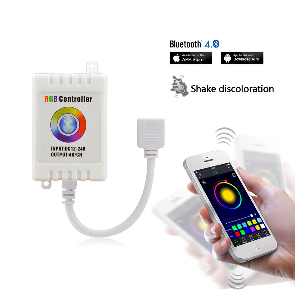 This controller lets you control 4 different branches of lights - Dc12v 24v Bluetooth Led Rgb Controller Music Sound App Control Led Strip Light Compatible