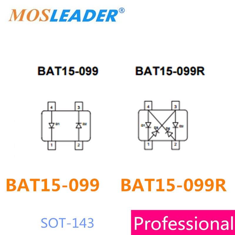 Mosleader SMD BAT15-099 BAT15-099R SOT143 50 pz 100 pz 4 V 0.11A 110mA BAT15 Diodi Schottky di Alta qualità