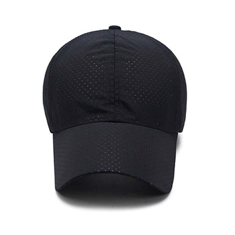 1pcs Baseball Cap Unisex Summer Solid Thin Mesh Portable Quick Dry Breathable Sun Hat Golf Tennis Running Hiking Camping